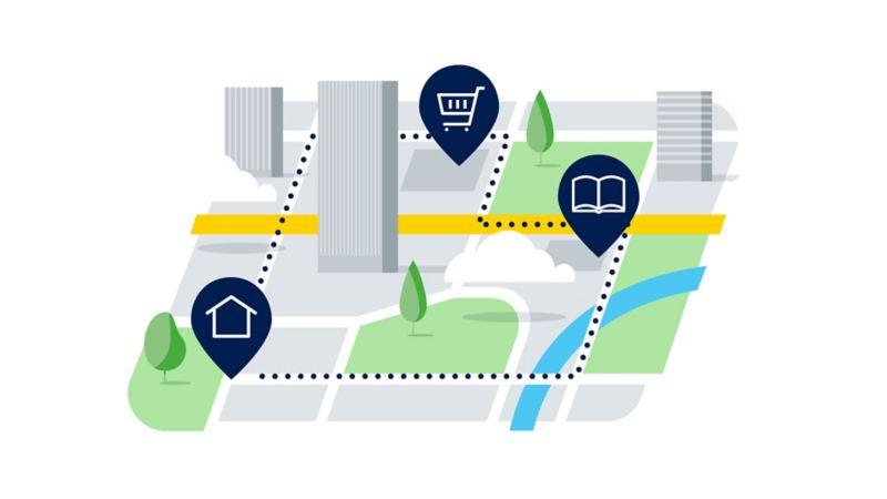 Plan de ville, courtes distances