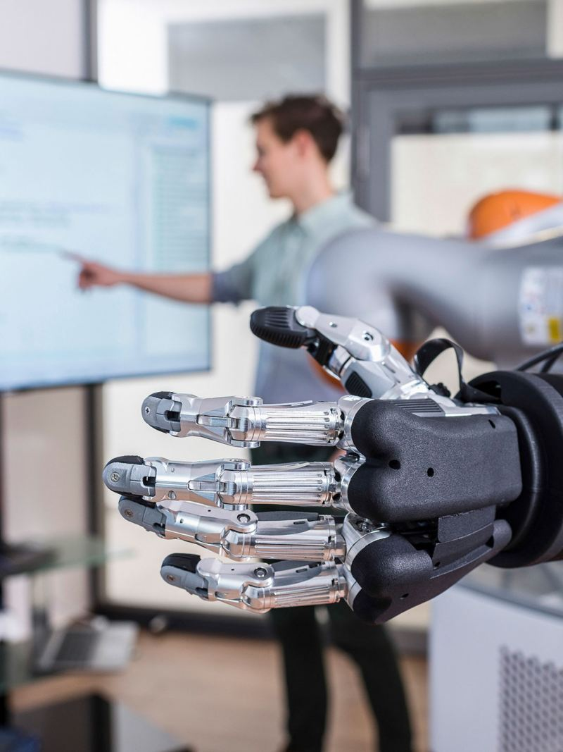Nahaufname einer Robotor-Hand