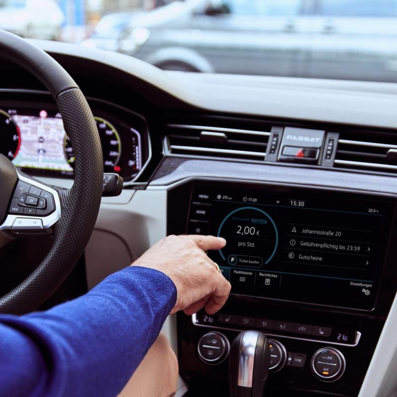 We Park ganz einfach im Infotainment-System von Ihrem Volkswagen nutzen
