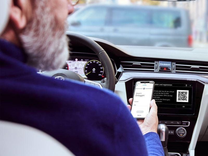 Die We Park App fürs Smartphone