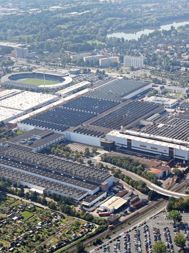 Panorama of Volkswagen's Braunschweig site