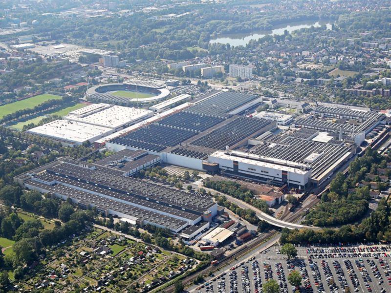 Panorama des Volkswagen Standortes Braunschweig