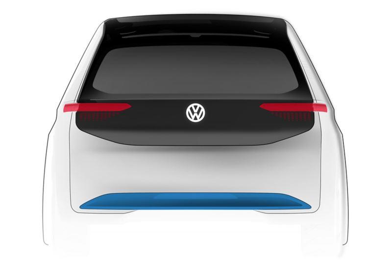 Volkswagen ID.3 disegno posteriore