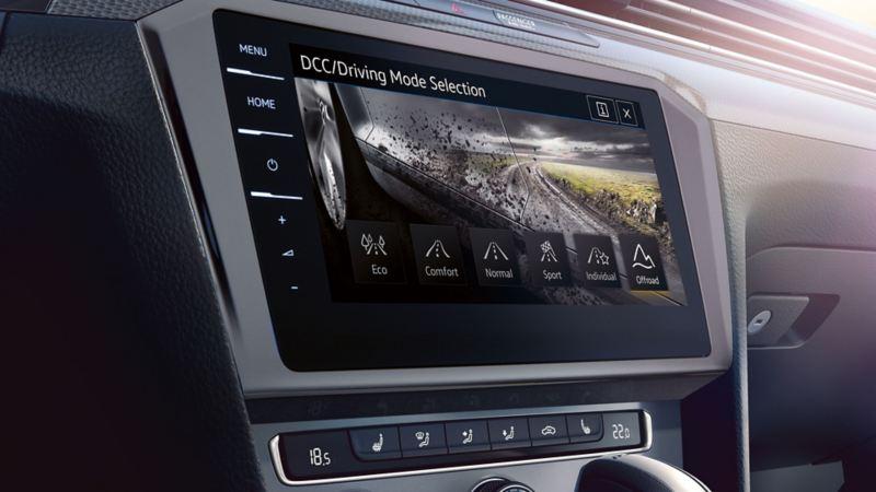 Rappresentazione della modalità Offroad sul computer di bordo di VW Passat Alltrack