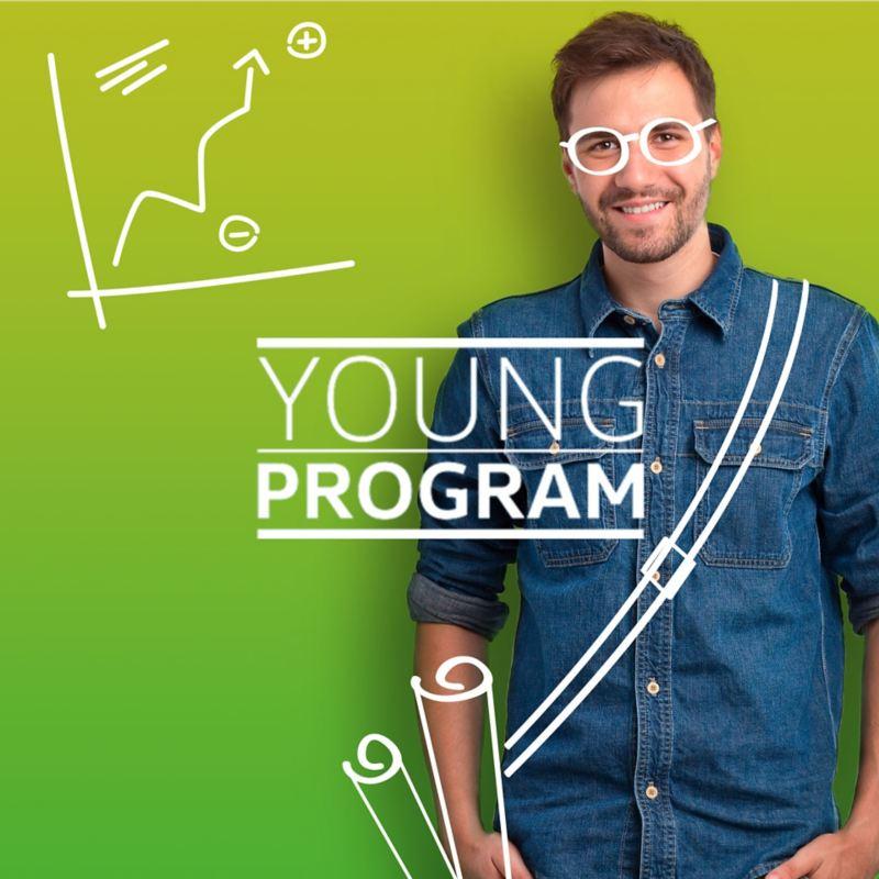 foto uomo disegnato occhiali Young Program