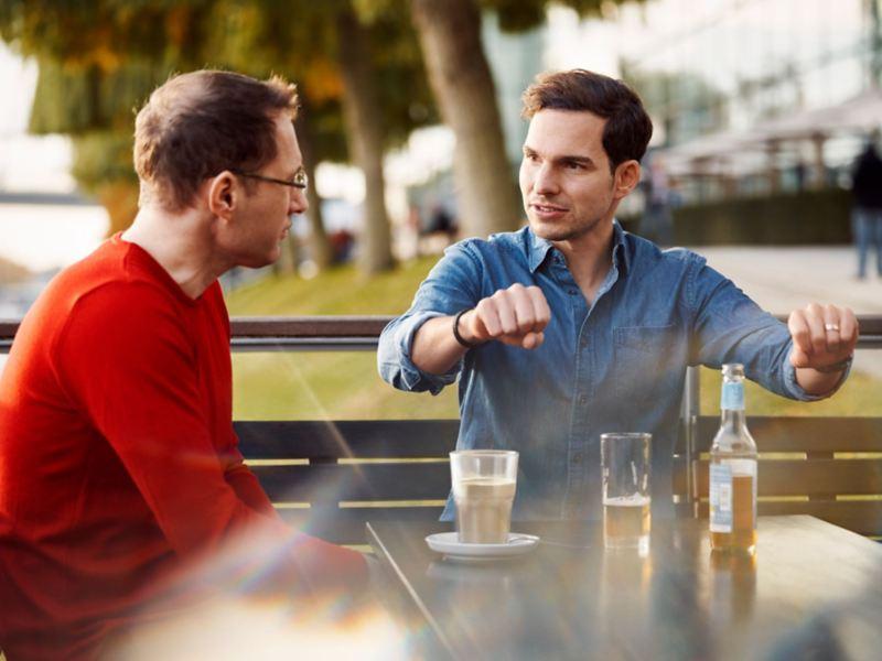 Carsten Camrath e Christopher Möllers a conversar