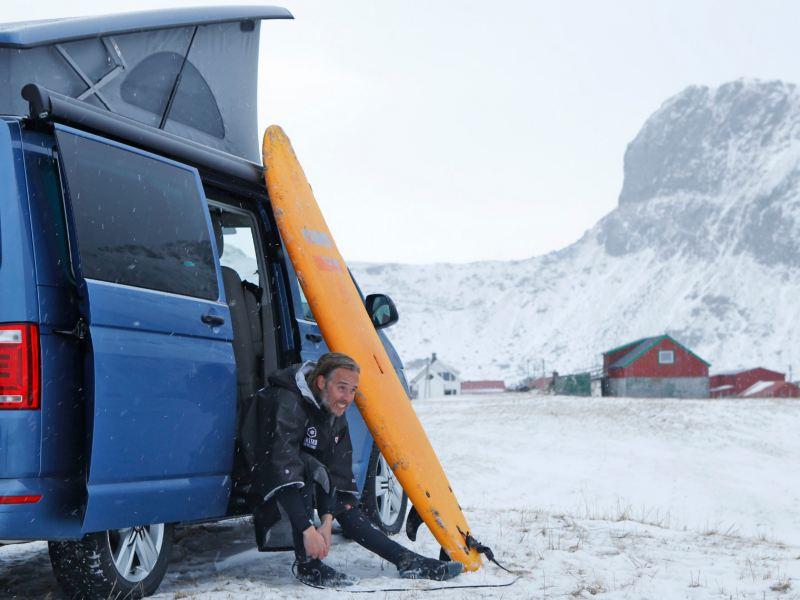 Camping med California norr om polcirkeln - mitt i vintern