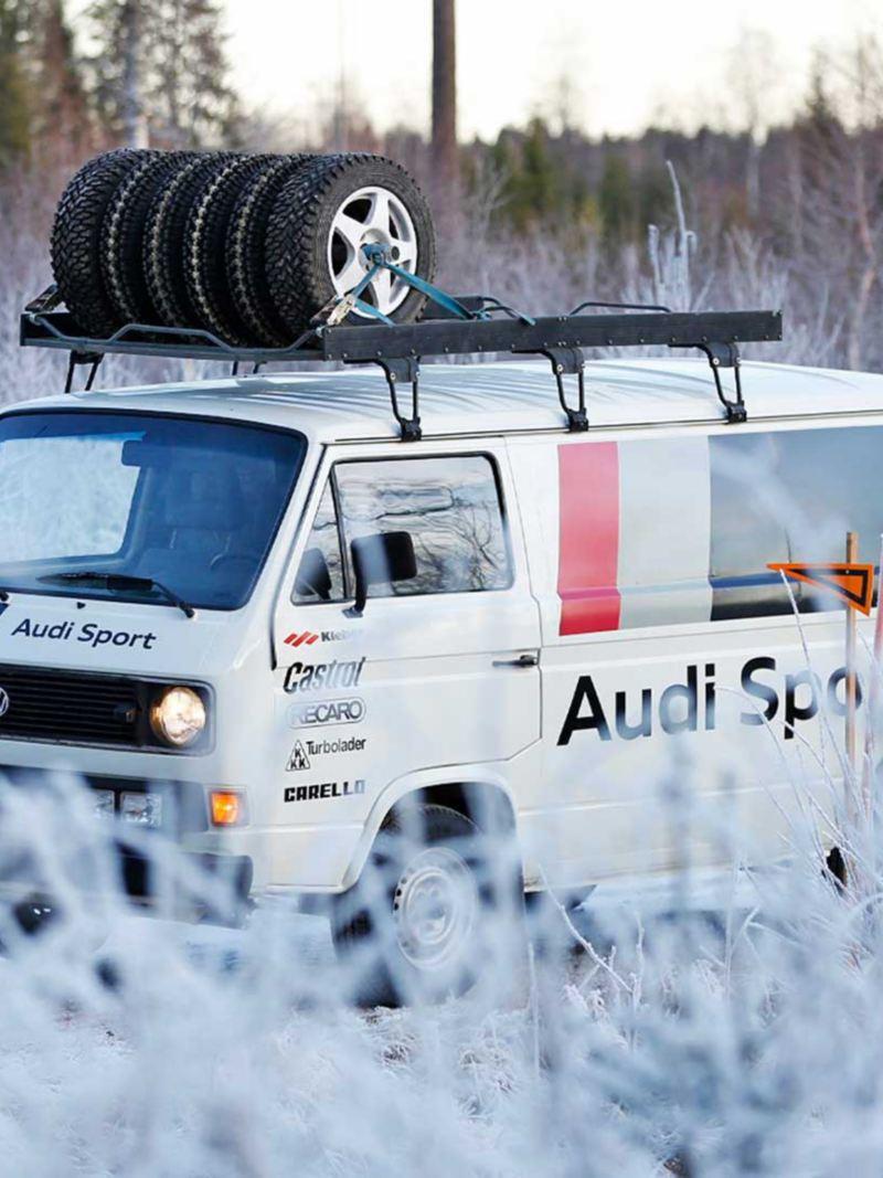 Audi Sport-bussen på vinterväg