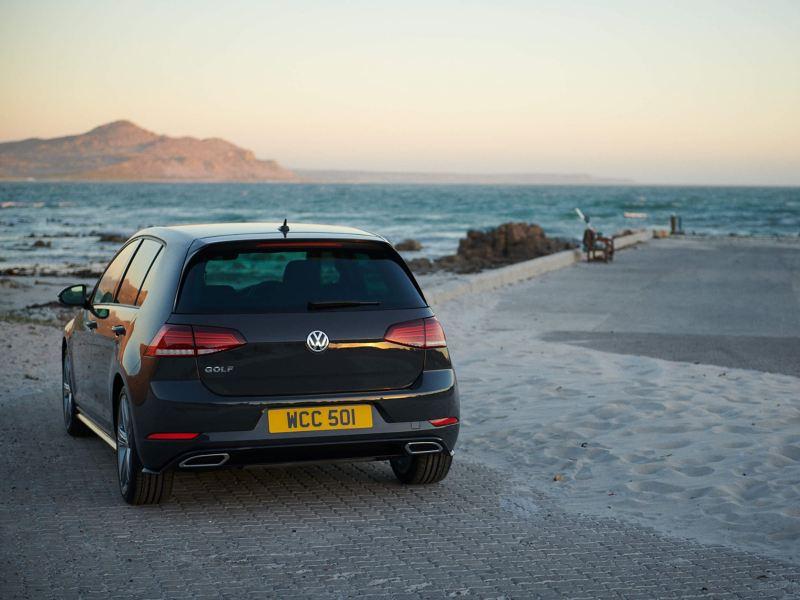 Volkswagen Golf on a beach