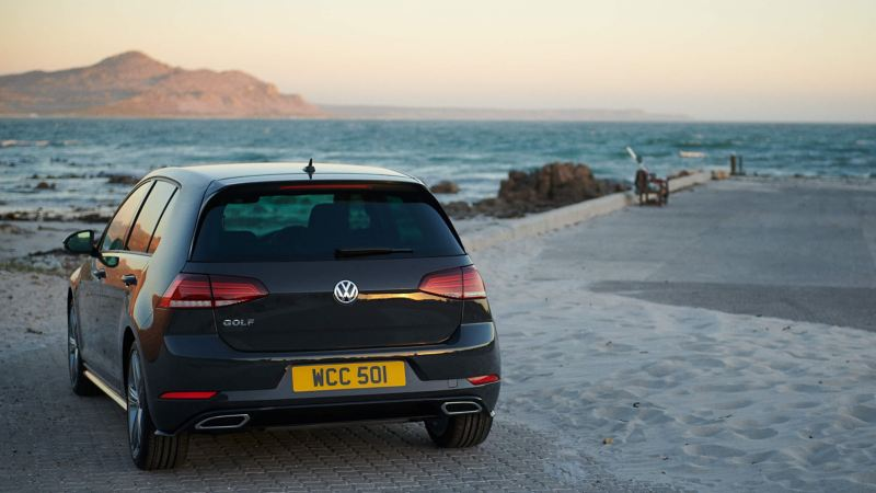 Volkswagen Golf on a beach
