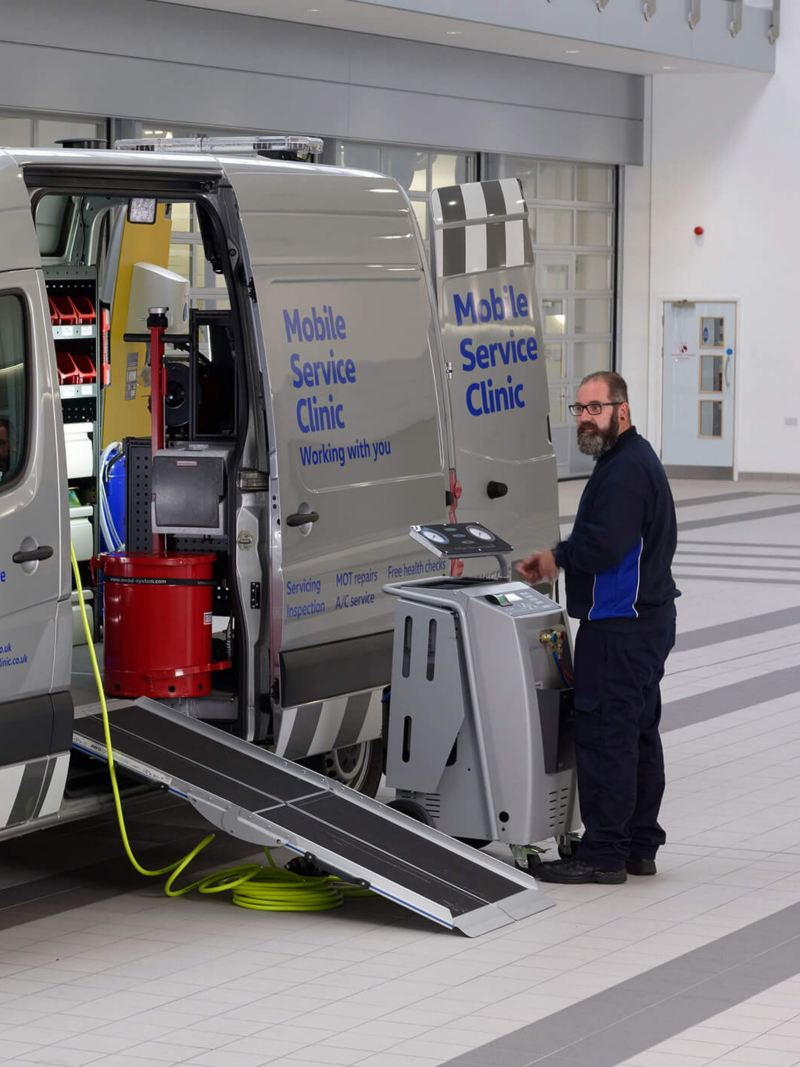 Mobile Service clinic set up