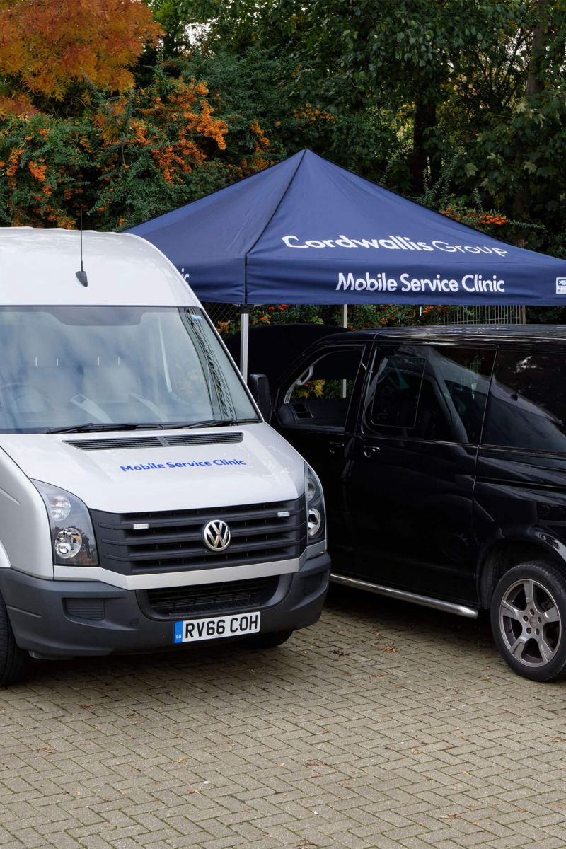 Mobile Service Clinic in use