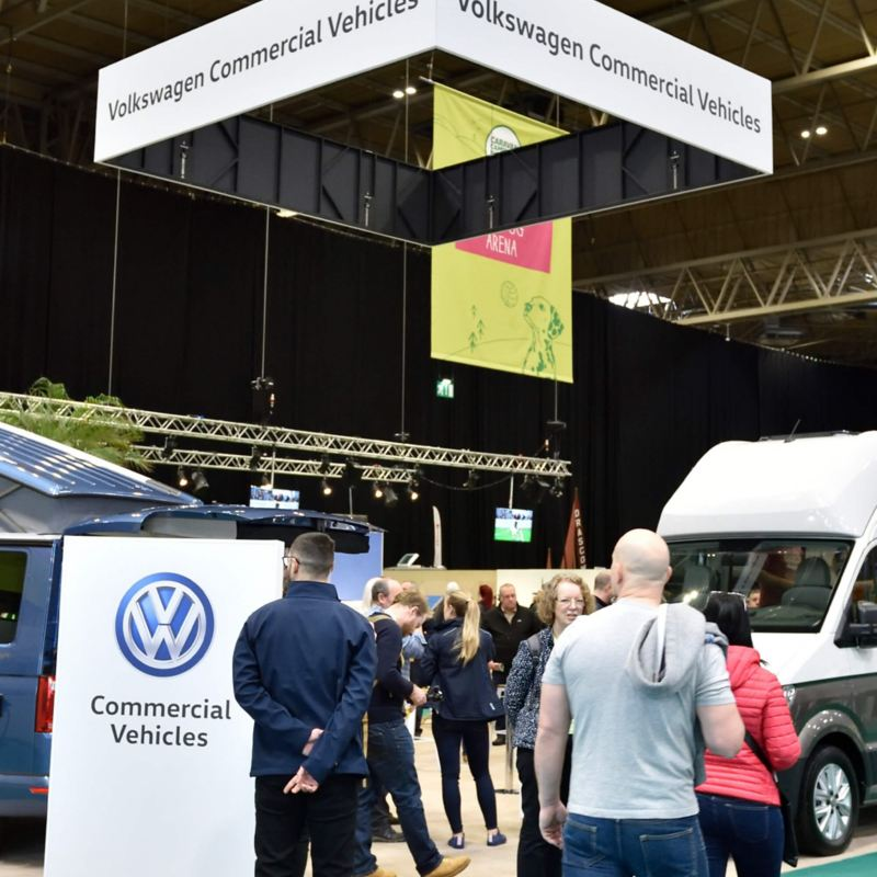 People at the Caravan, Camping and Motorhome Show 2019