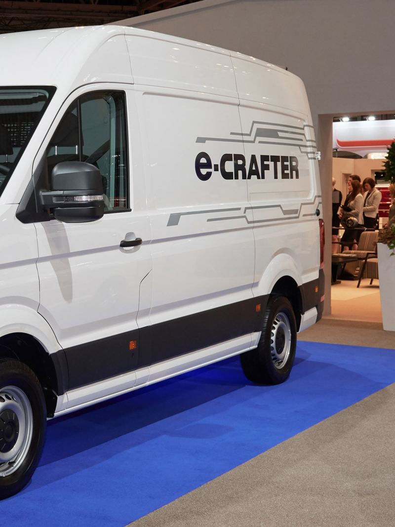 VW e-Crafter and e-Transporter at Commercial Vehicle Show 2019