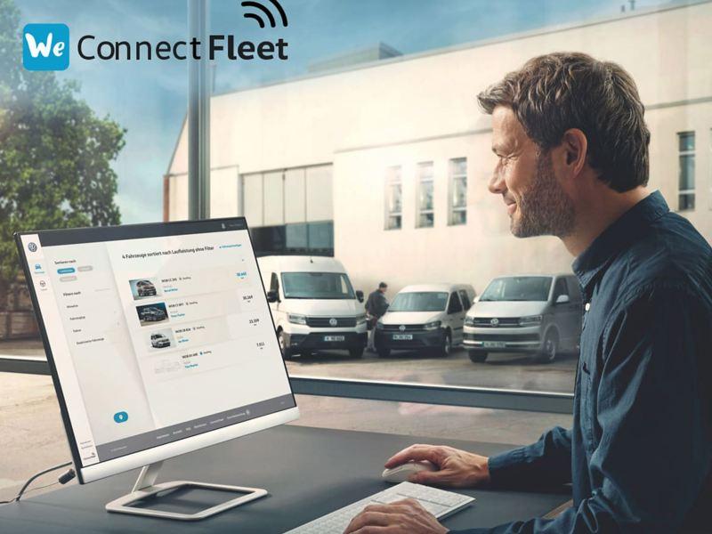 Man using We Connect Fleet