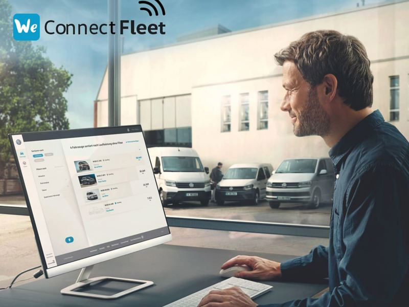 Man using We Connect Fleet