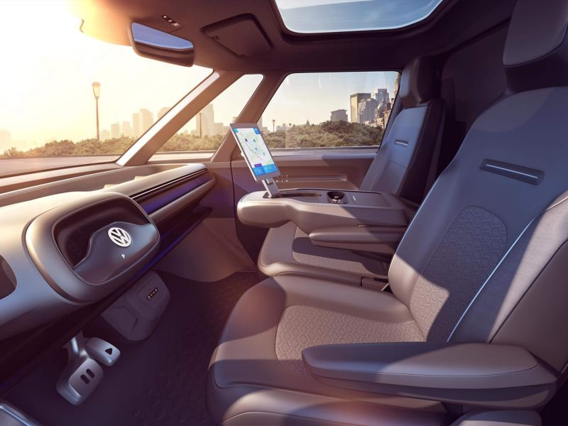 ID BUZZ CARGO Interior—front seats
