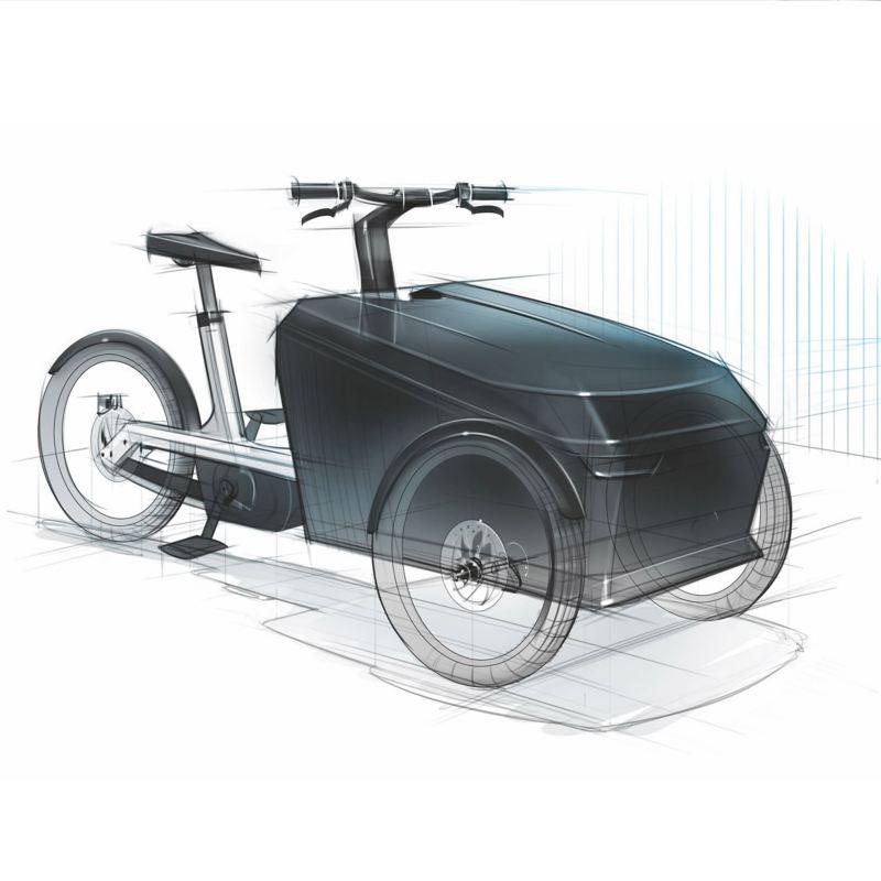 Cargo e-bike sketch