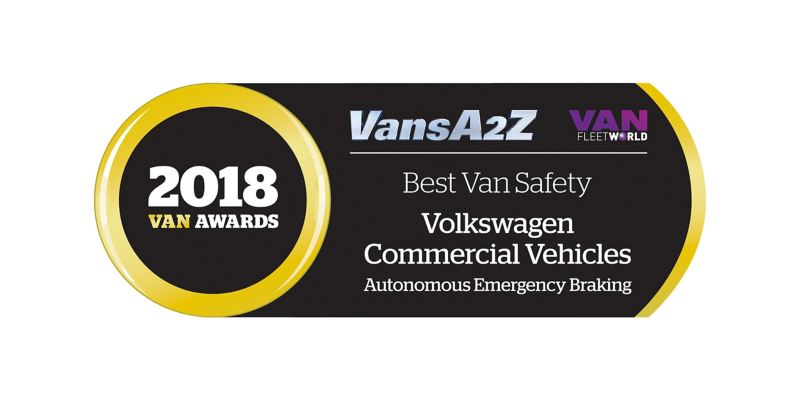 2018 Van Awards Best Van Safety Volkswagen Commercial Vehicles