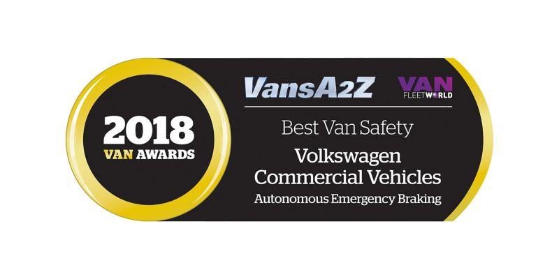2018 Van Awards Best Van Safety Volkswagen Commercial Vehicles