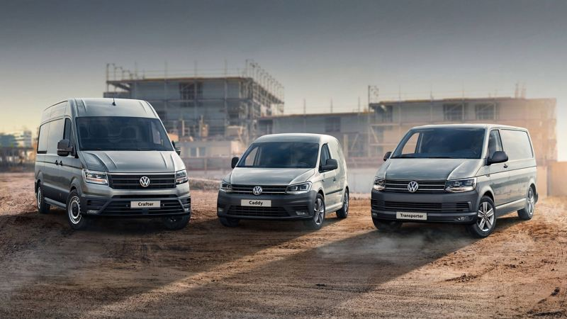 VW van range with awards logo