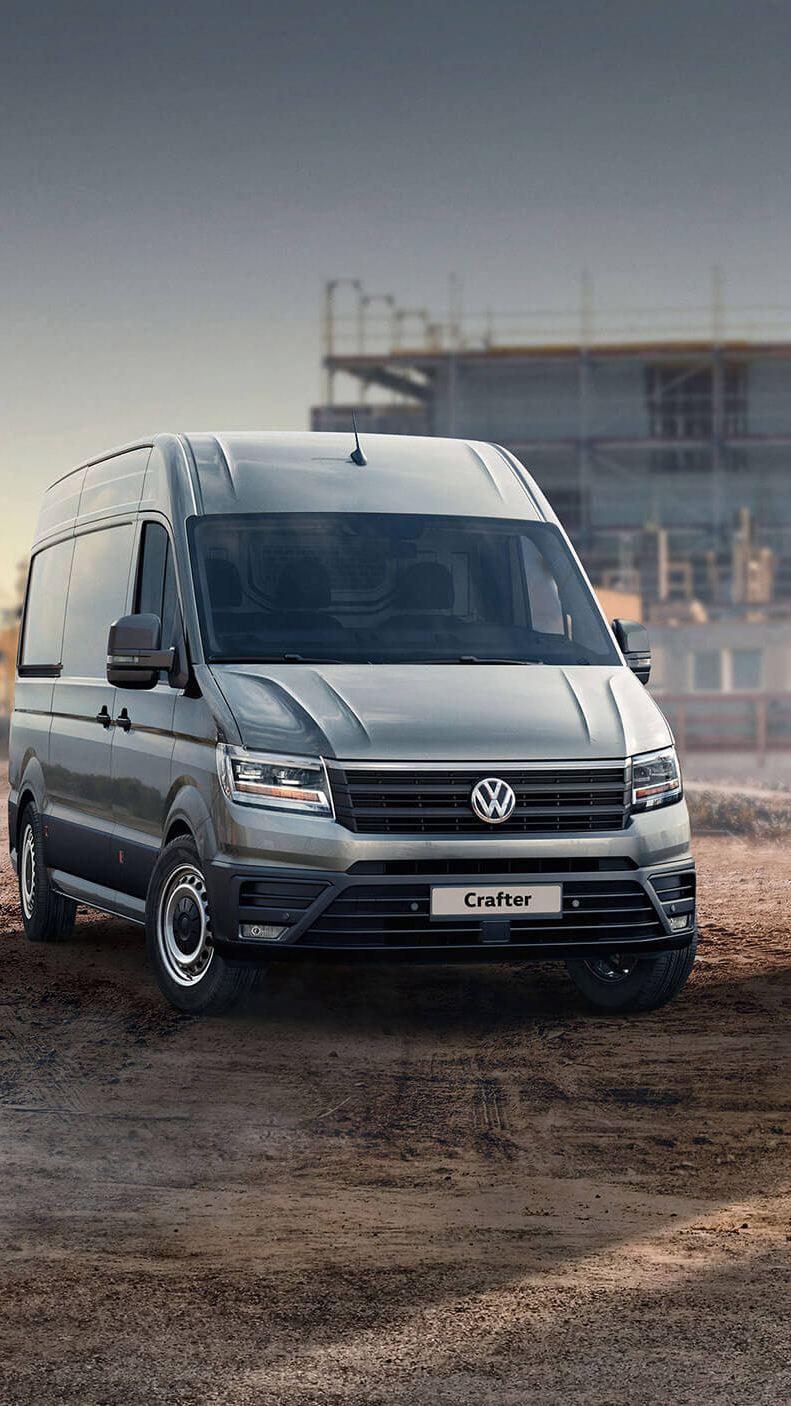 VW van range with awards logo