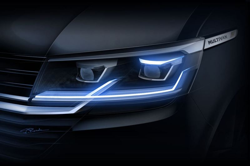 Transporter T6.1 headlight