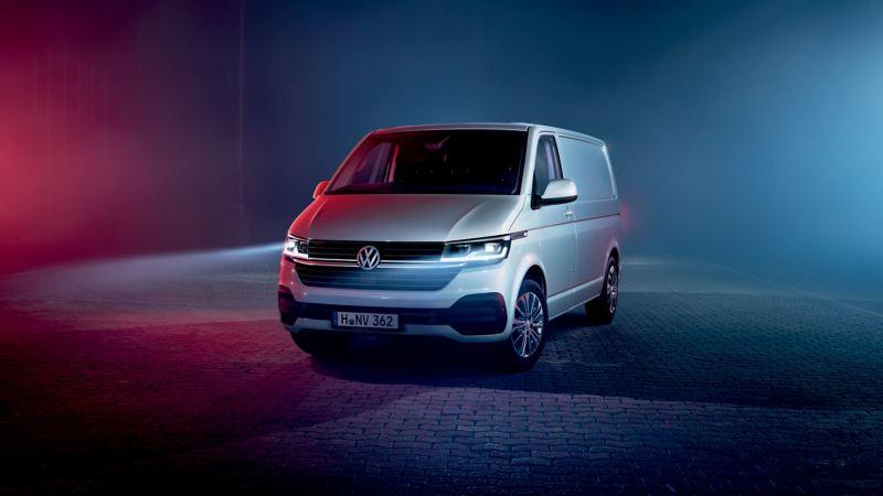 VW new Transporter T6.1 panel van front quarter view