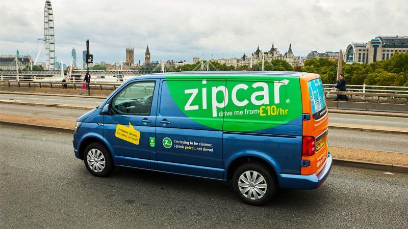 Zipvan drive through London