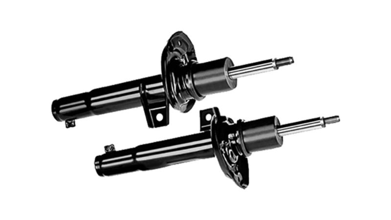 black VW shock absorbers