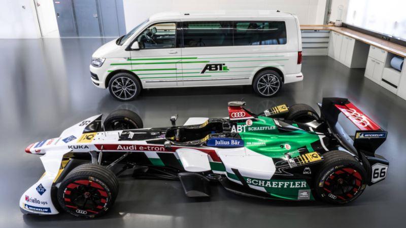 ABT formel E och VW Transporter elbil