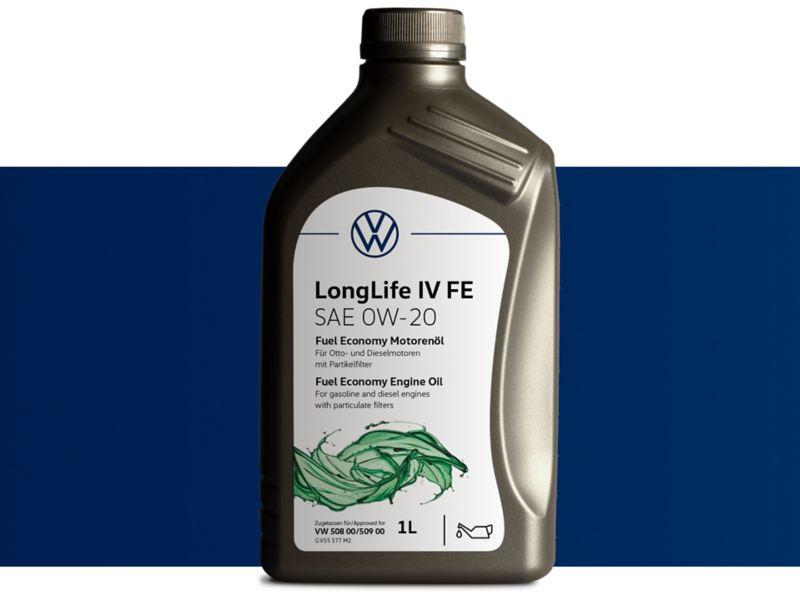 Aceite Original LongLife IV Volkswagen de bajo consumo para motores con intervalos de servicio extendidos