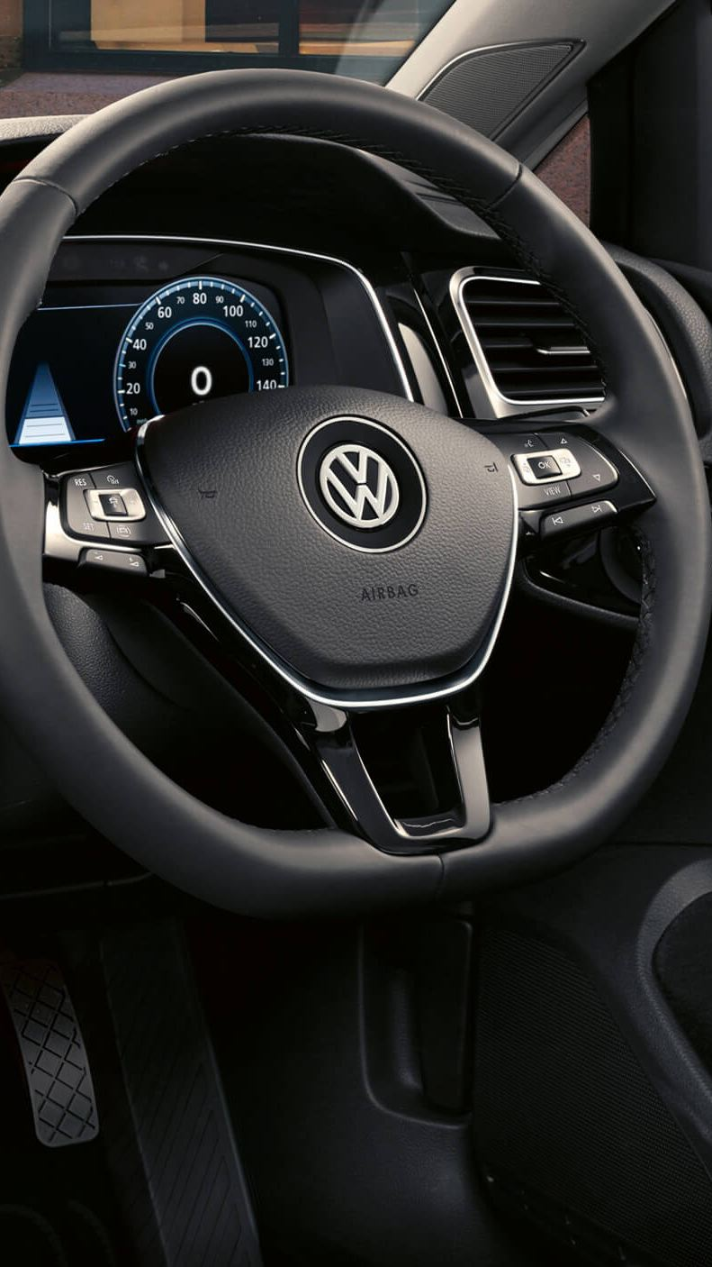 Dashboard inside a car