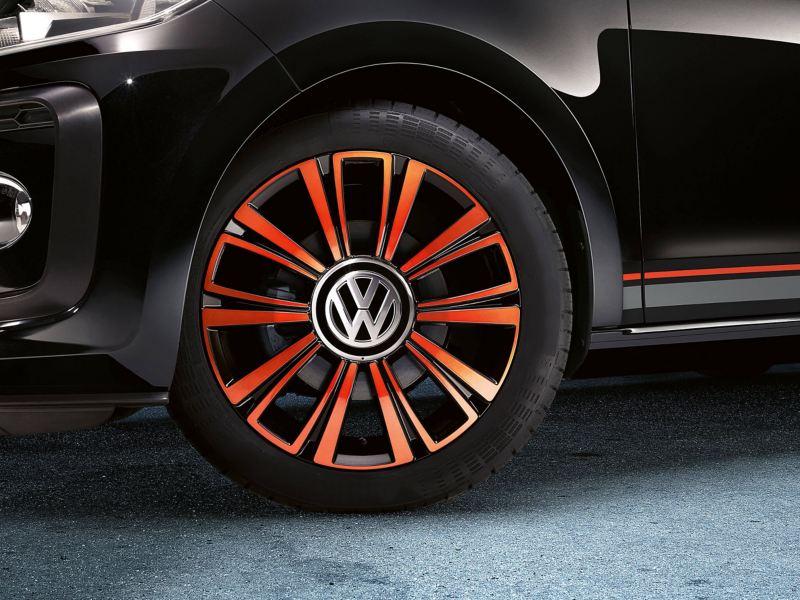 Alloy wheel shot of a Volkswagen up!