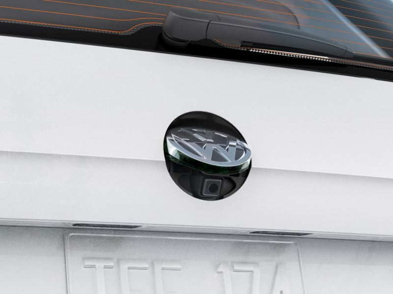 rearview camera in action on the Golf Alltrack
