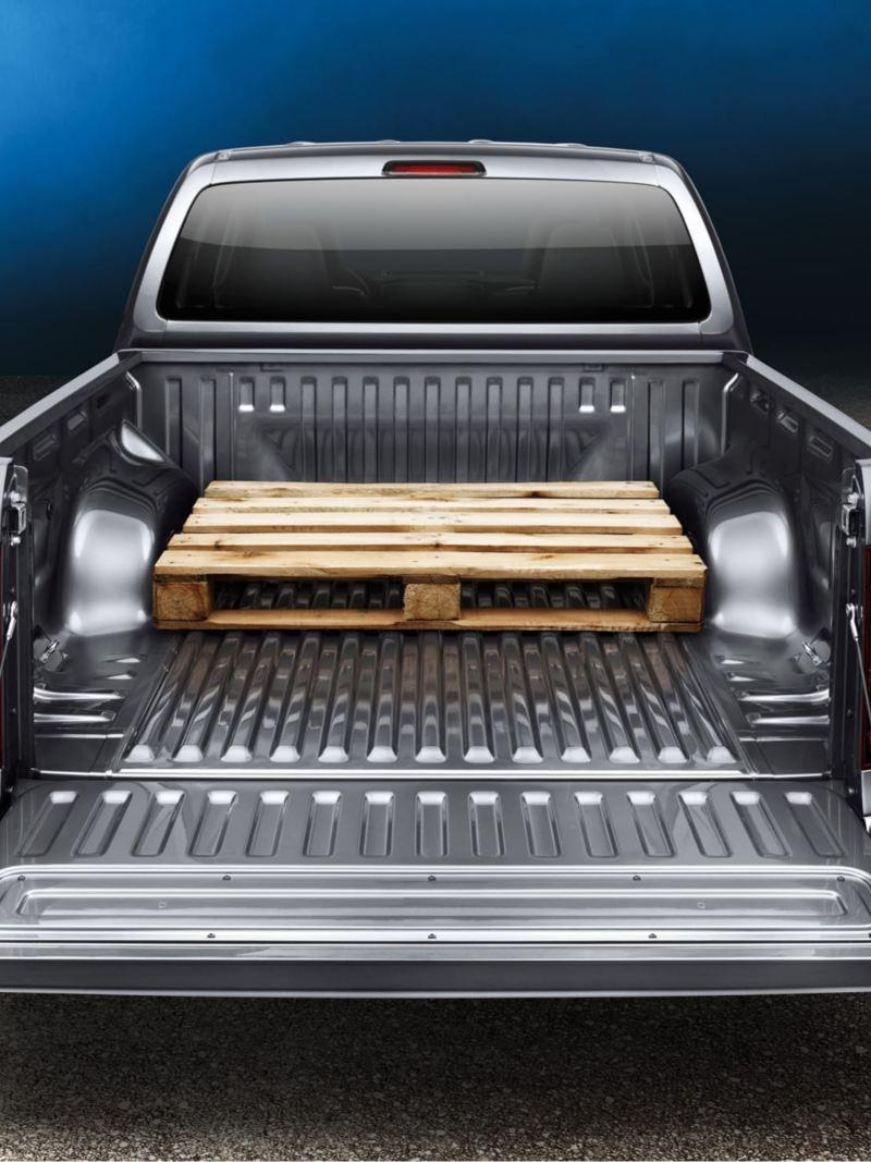 vw Volkswagen AmaroK pickup lasteplan frakter europall på tvers