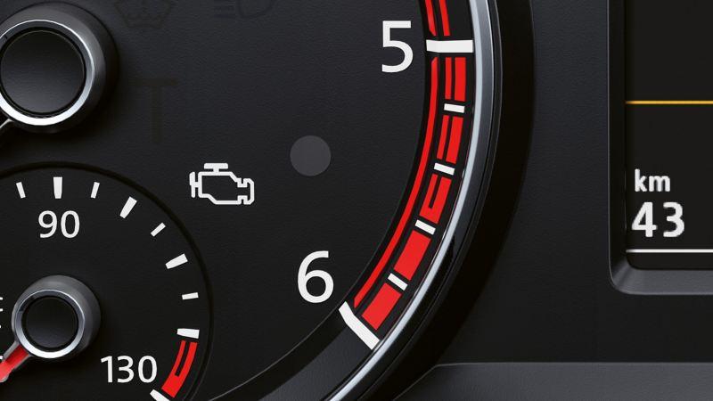 Varningslampa i en VW Transportbil