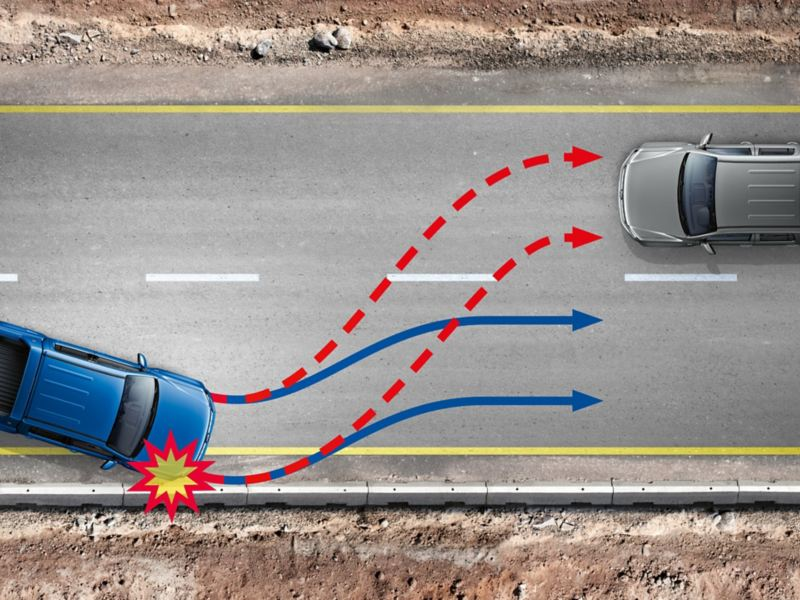 Multikollisionsbroms i VW Amarok pickup