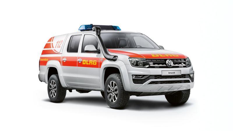 VW Amarok pickup ombyggd till ett räddningsfordon