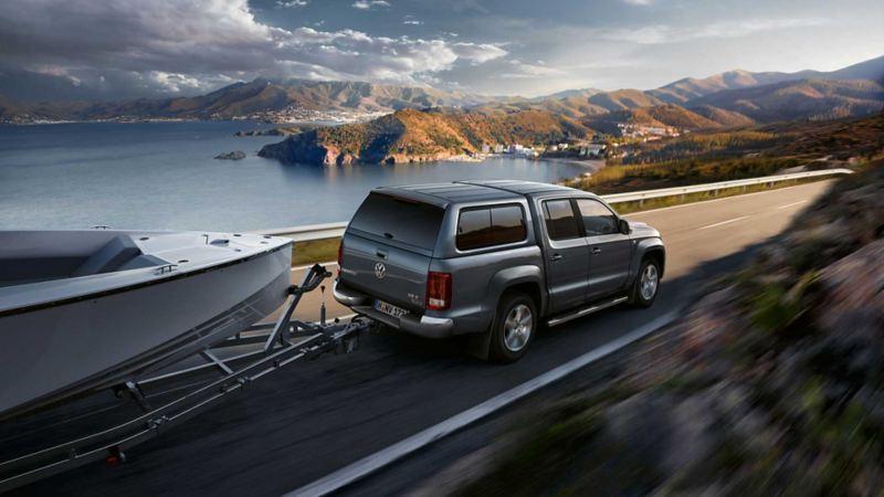 vw Volkswagen Amarok pickup varebil personbil premium stort lasteplan 4x4 arbeidsbil firmabil båthenger