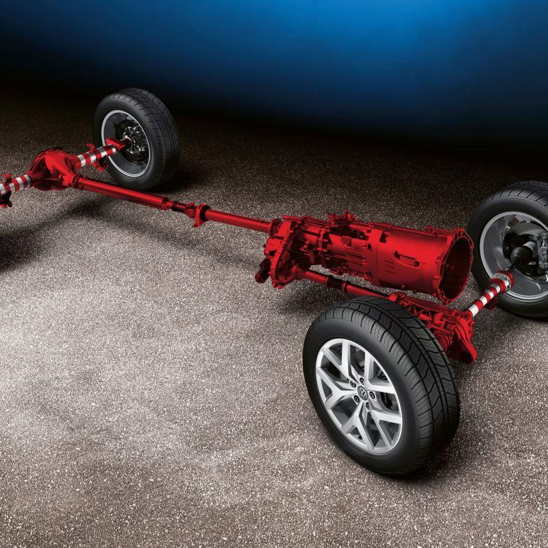 Permanent fyrhjulsdrift 4MOTION i VW Amarok pickup