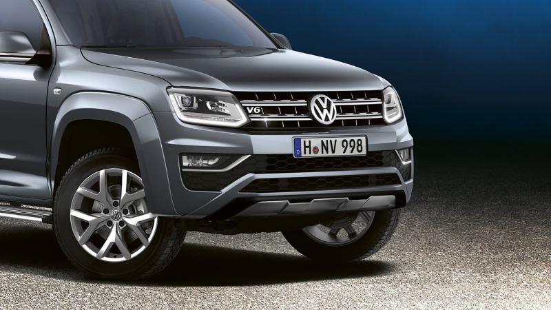 Bi-xenonstrålkastare på VW Amarok pickup
