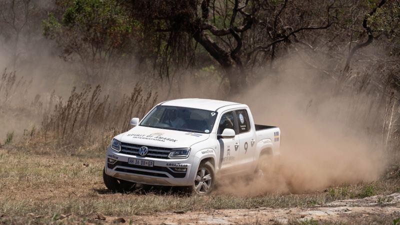 Volkswagen Amarok på rally i Sydafrika