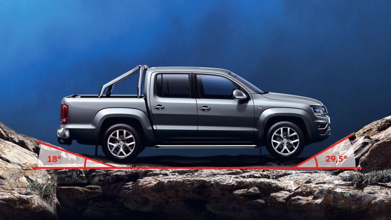 Amarok Highline ángulo de inclinación