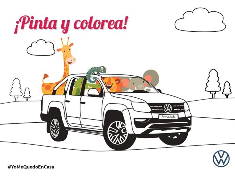 Colorea tu Amarok VW