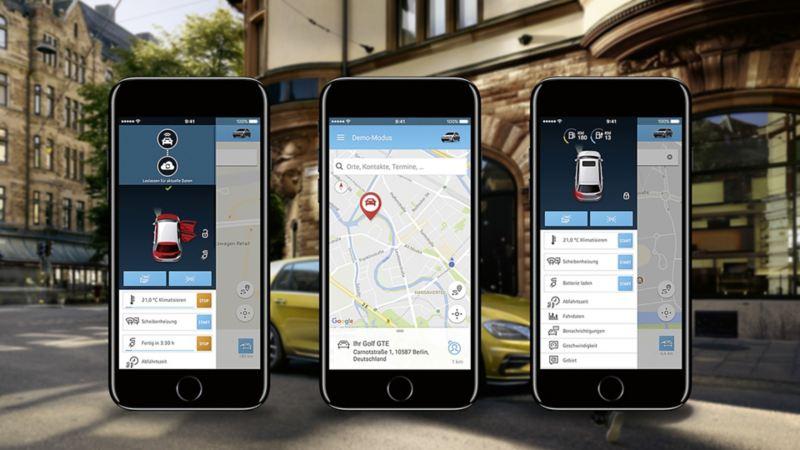 Za pomocą smartfona można włączyć ogrzewanie wnętrza, szyb czy klimatyzację.