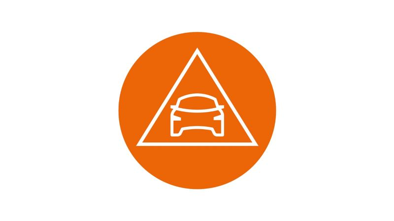 A car inside a triangle