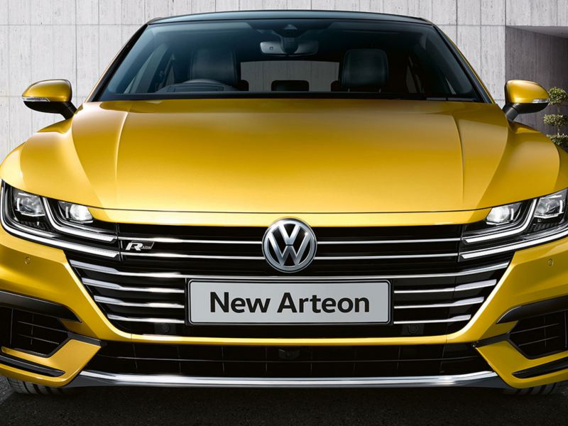 front view of arteon
