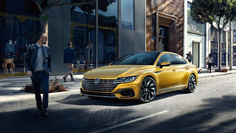 The Arteon zipping on the street