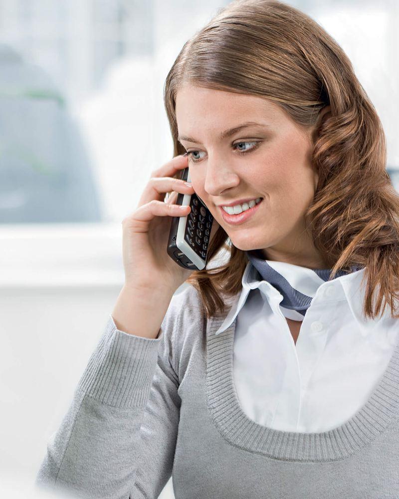 Femme service client